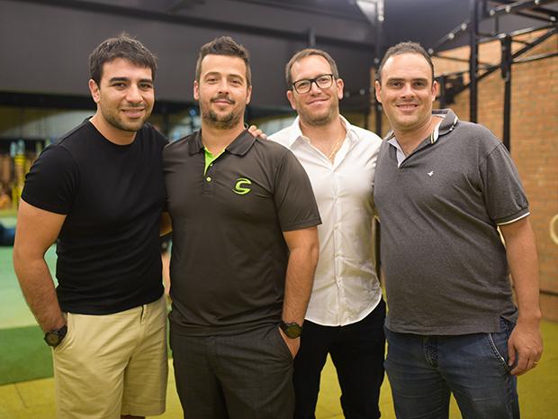 Felipe Chukr, Renato Renno,Tiago Nunes e Rafael Damasio (Foto: Rodrigo Zorzi/ Divulgação)