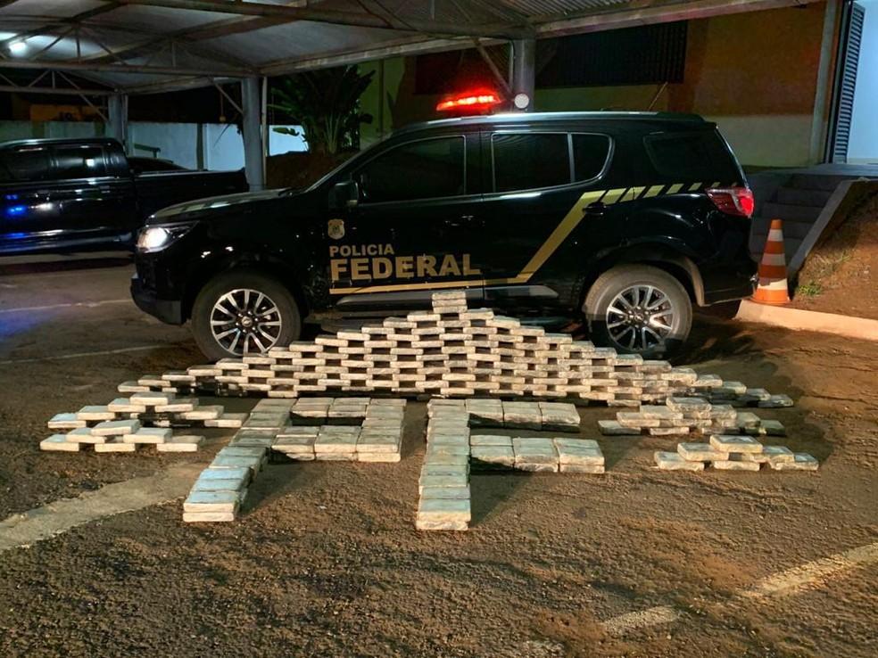 Operação Paralelo: Carregamento de droga do grupo interceptado pela polícia durante as investigações — Foto: PF/Reprodução