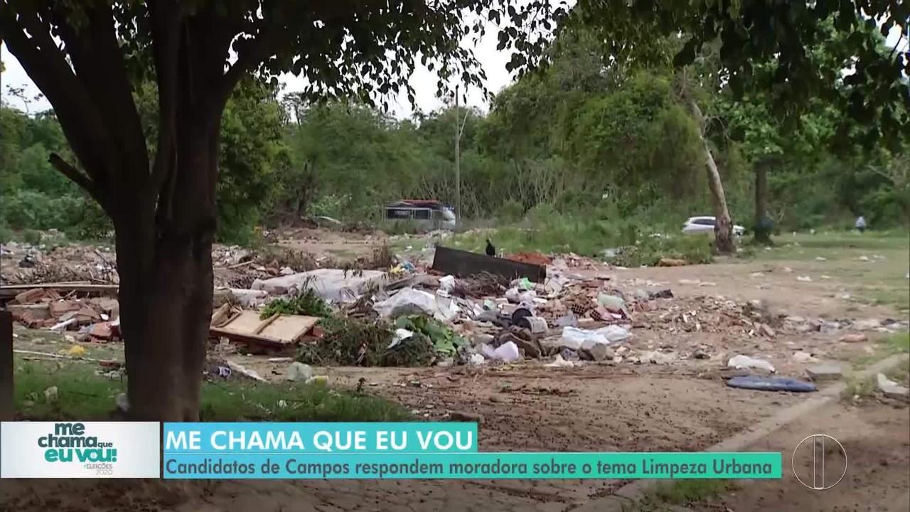 'Me chama que eu vou': Candidatos de Campos respondem morador sobre Limpeza Urbana