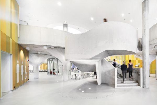 Escola Kastelli, na Finlândia (Foto: Lahdelma & Mahlamäki Architects)