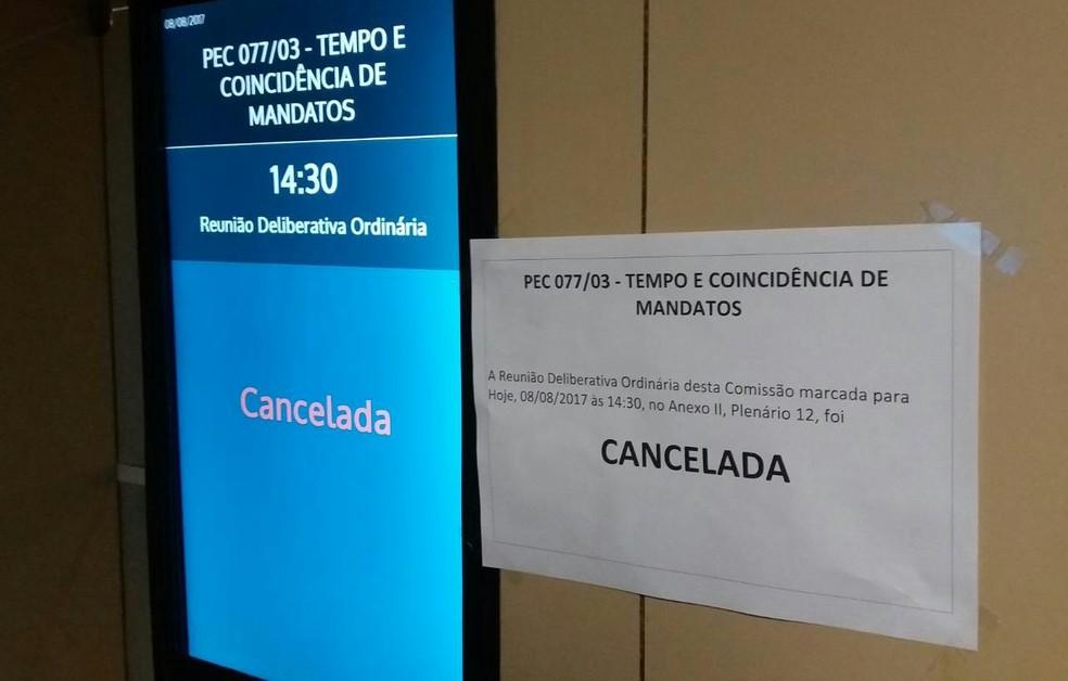 Sem consenso, comissão cancela votação de relatório da reforma política (Foto: Bernardo Caram/G1)