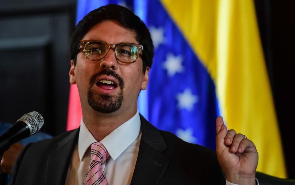 O deputado opositor Freddy Guevara