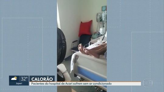 Falta de ar condicionado afeta até pacientes no CTI do hospital municipal em Acari