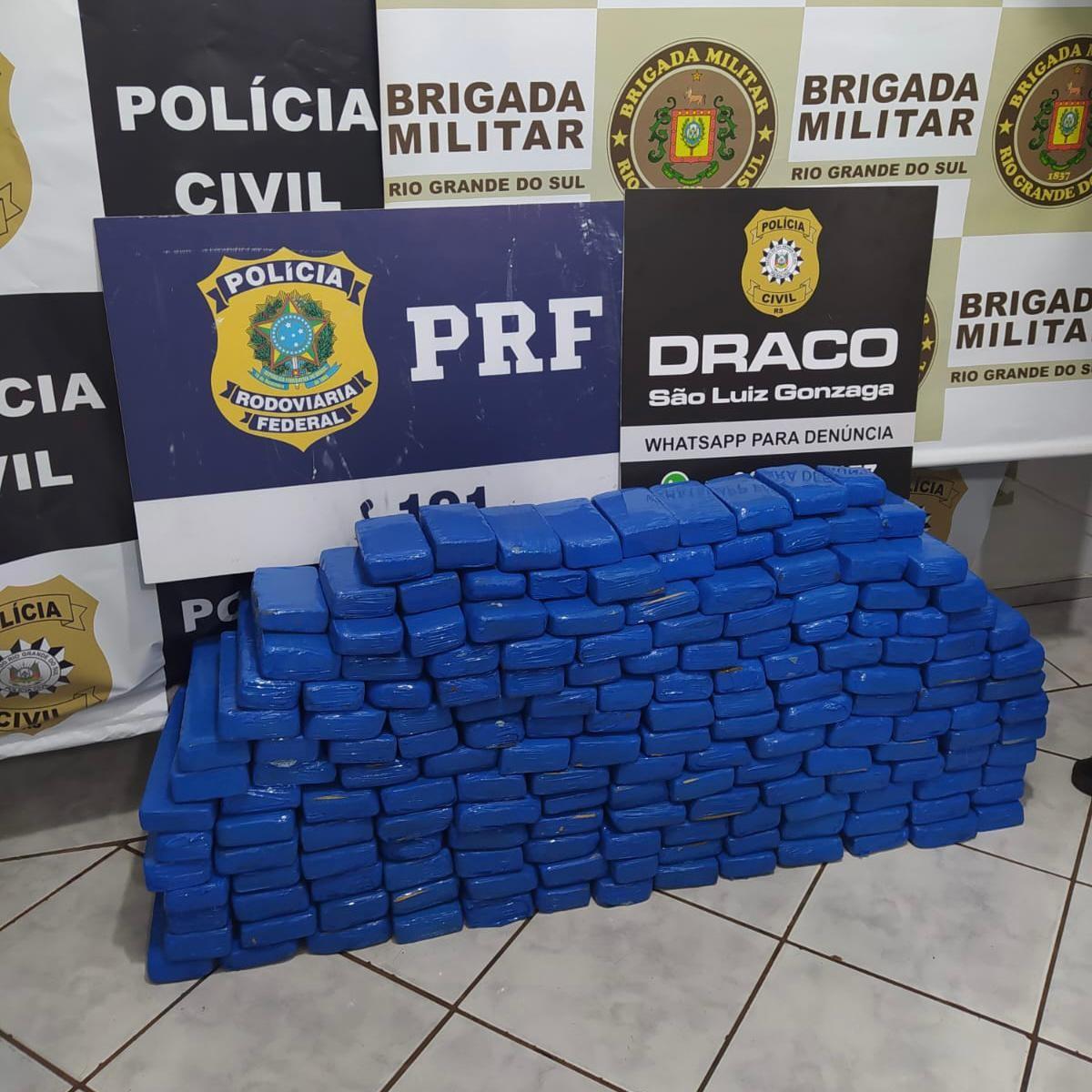 Suspeitos são presos com drogas, motocicleta furtada e dinheiro falso em São Luiz Gonzaga, diz PRF