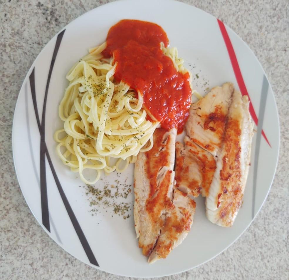 Almoço preparado pelo advogado Leandro Araujo, que aprendeu a cozinhar durante a quarentena — Foto: Arquivo pessoal