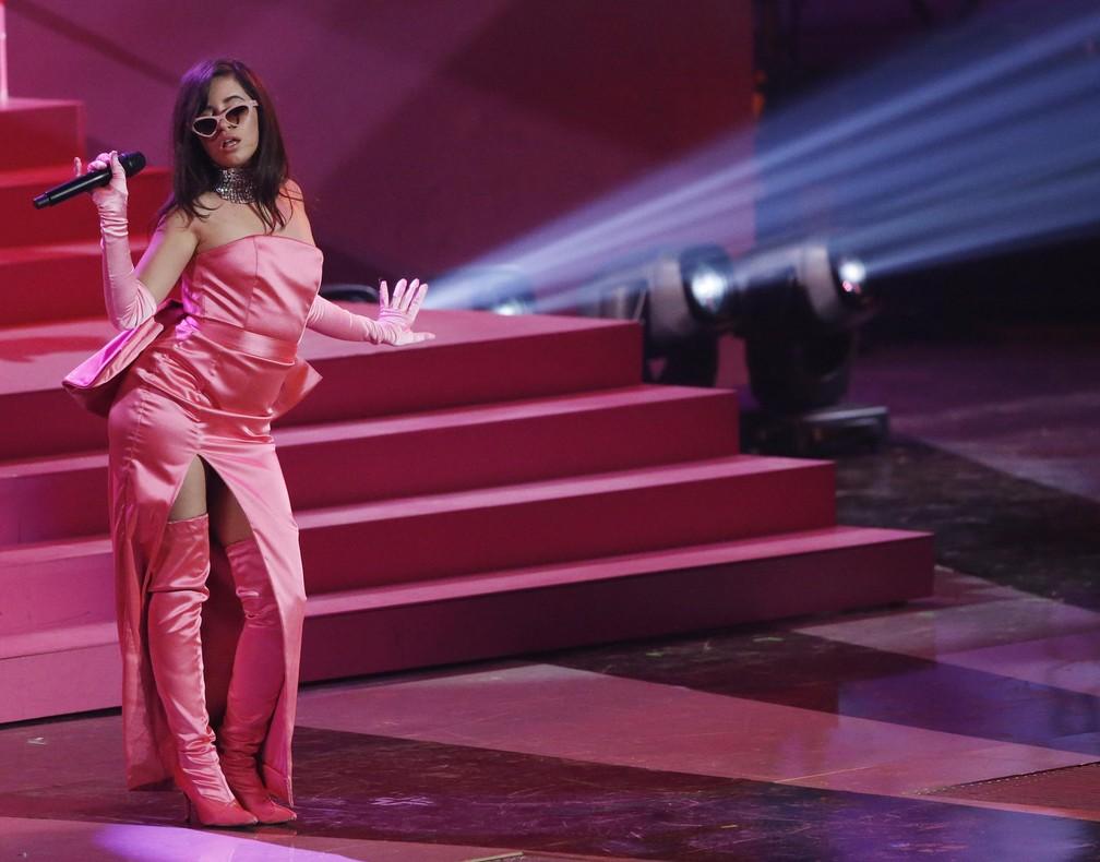 camila Cabello se apresenta no iHeartRadio Music Awards 2018 (Foto: REUTERS/Mario Anzuoni)