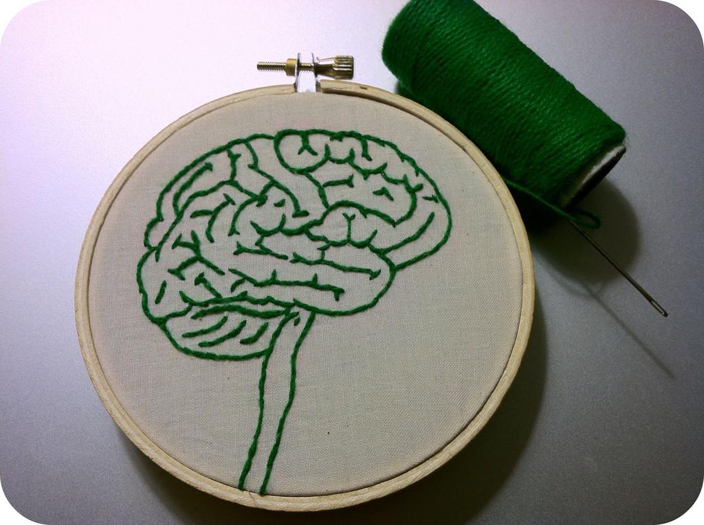 Bordado de cérebro humano (Foto: Reprodução)