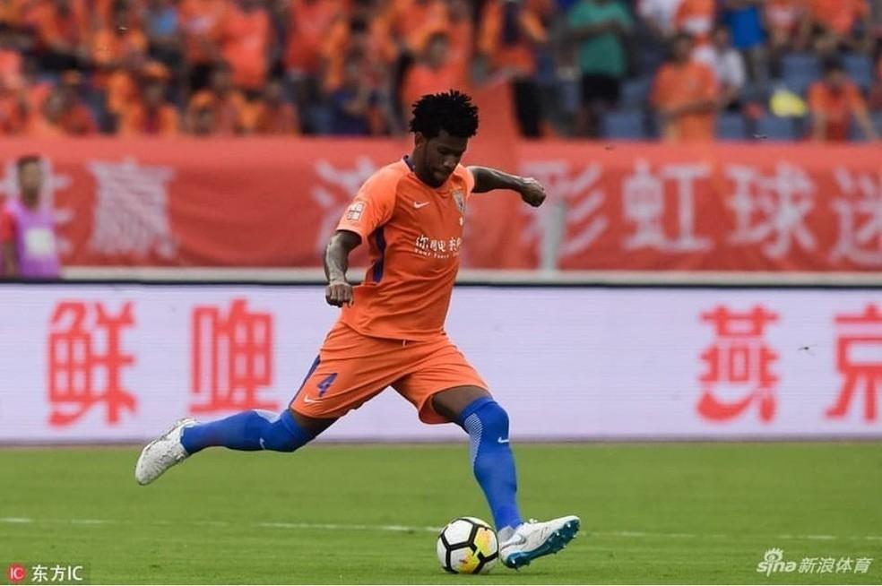 Zagueiro Gil está no futebol chinês desde 2016 — Foto: Reprodução/sina.com