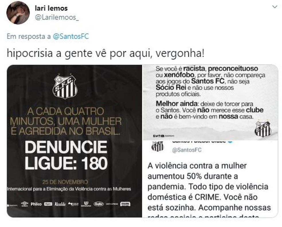 Santos Robinho Twitter — Foto: Reprodução