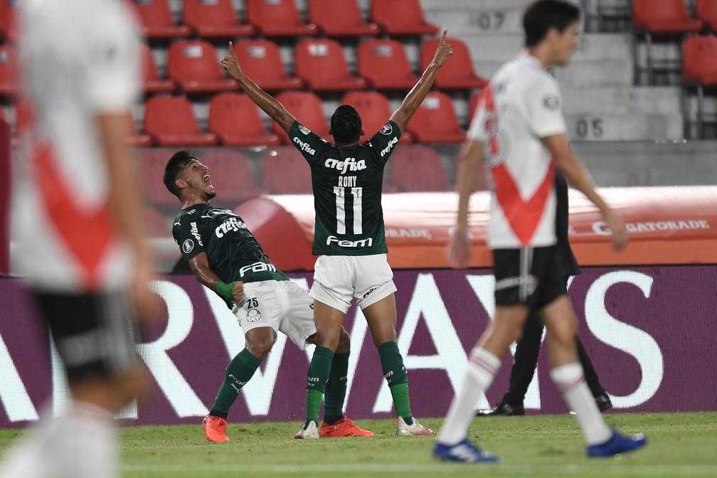 Palmeiras venceu River e está perto da final da Libertadores — Foto: Staff Images/Conmebol