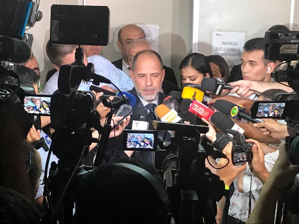 Juiz Gustavo Amarilla negou pedido de Ronaldinho Gaúcho a prisão domiciliar — Foto: Martín Fernandez