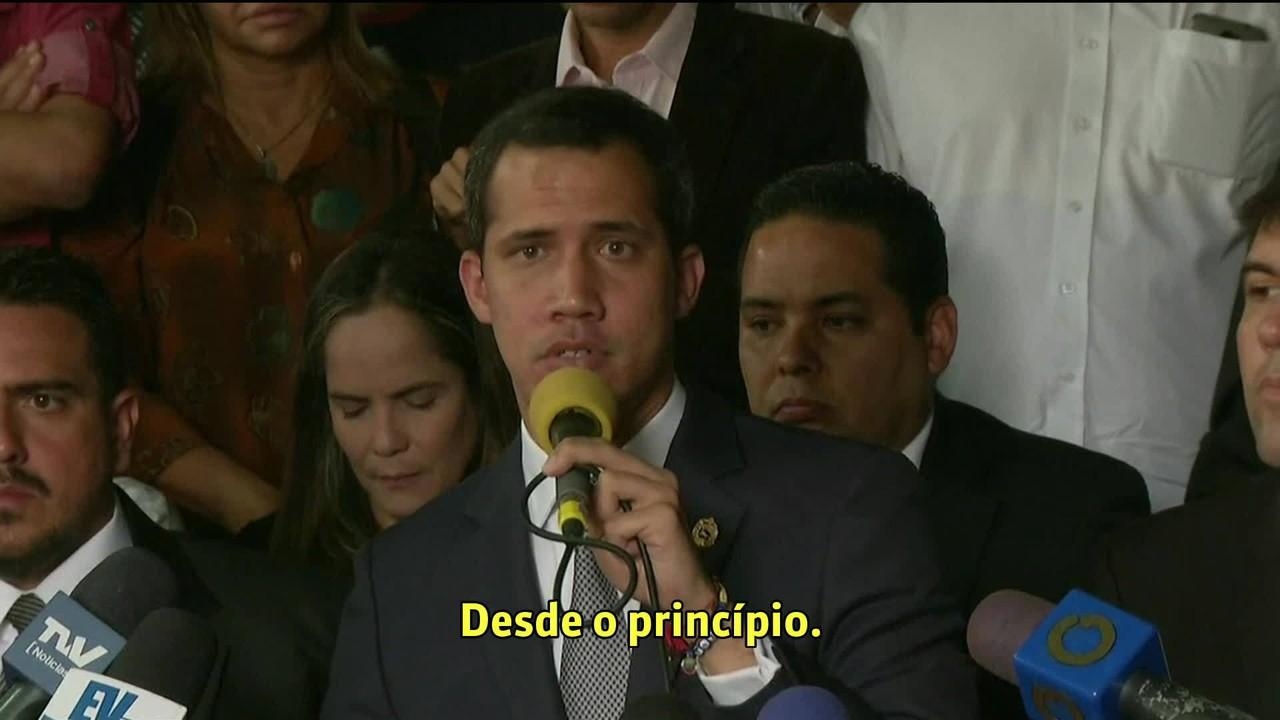 Guaidó convoca oposição a marchar até unidades militares