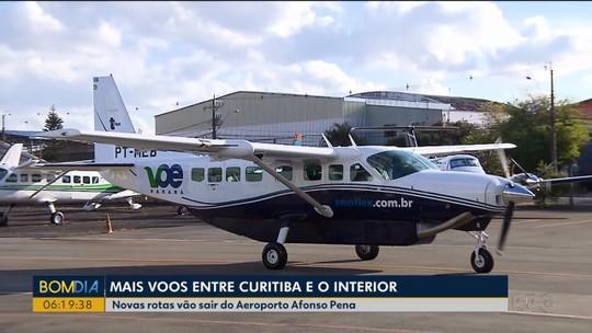 Novos voos regionais do Paraná começam a operar no fim de outubro