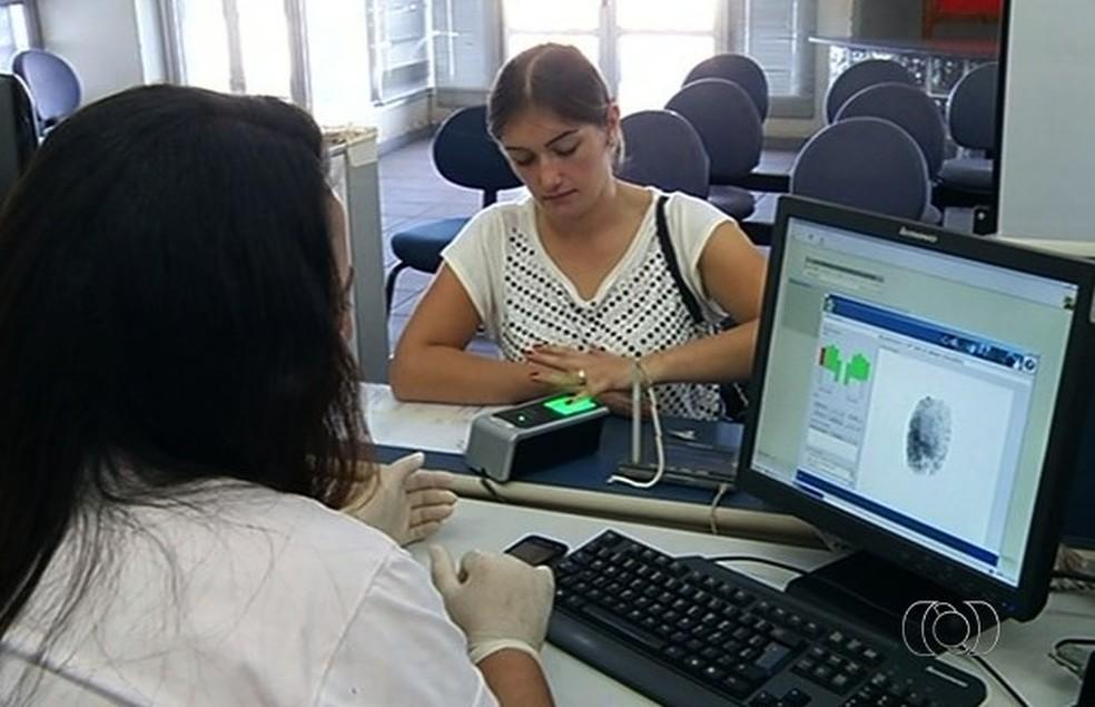 -  Recadastramento biométrico acontece até o dia 20 de outubro.  Foto: Reprodução/ TV Anhanguera