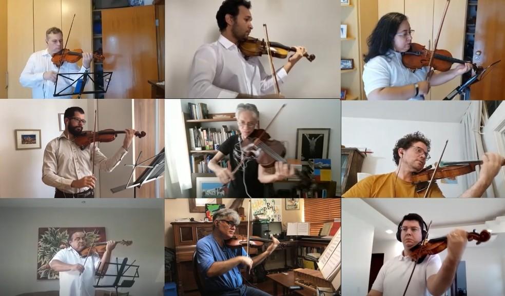 Orquestra Sinfônica do Teatro Nacional em homenagem aos 60 anos de Brasília — Foto: Orquestra Sinfônica/Divulgação