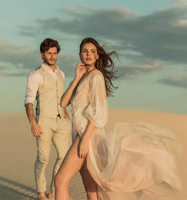 Camila Queiroz e Klebber Toledo (Foto: Rodrigo Sack)