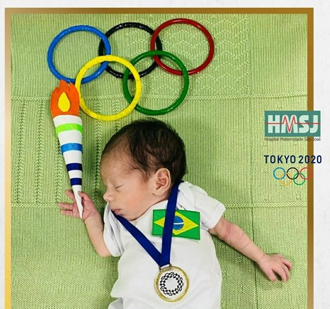 Olimpíadas: bebês de UTI se fantasiam para homenagear atletas brasileiros, no Espírito Santo