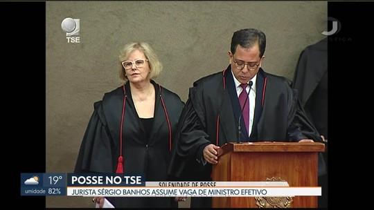 Sérgio Banhos toma posse como ministro efetivo do TSE