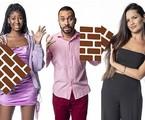 Camilla de Lucas, Gilberto e Juliette estão no paredão do 'BBB' 21 | Reprodução
