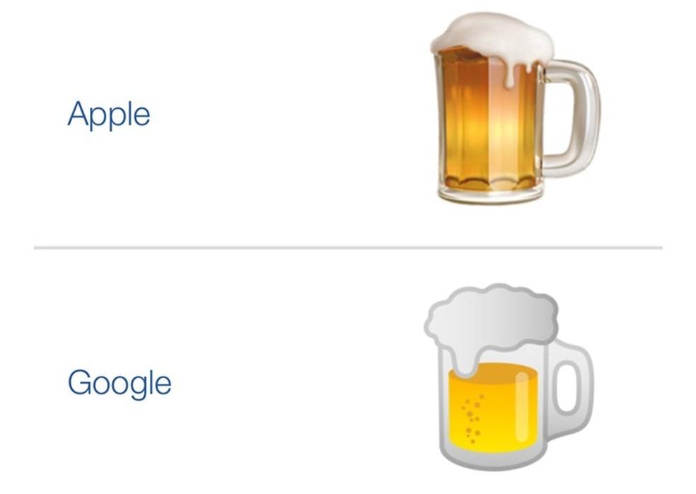 Copo na metade e cor diferente marcam emoji da cerveja (Foto: Reprodução/Twitter) (Foto: Twitter)