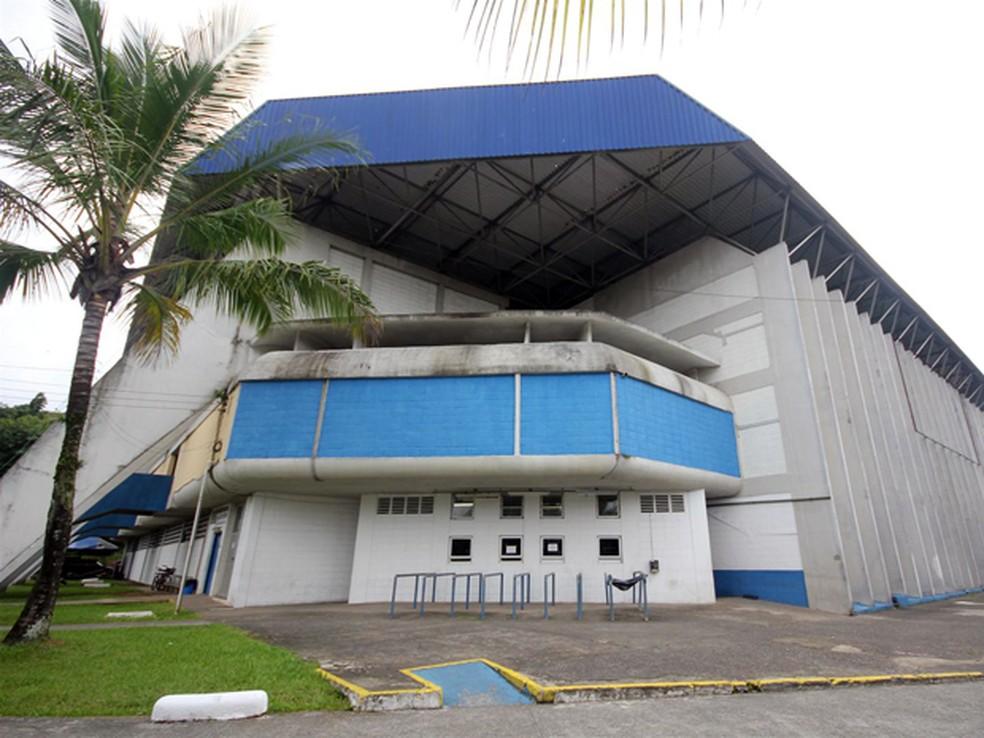 Parque é público e fica dentro do Ginásio Municipal Guaibê, em Guarujá, SP — Foto: Pedro Rezende / Prefeitura de Guarujá