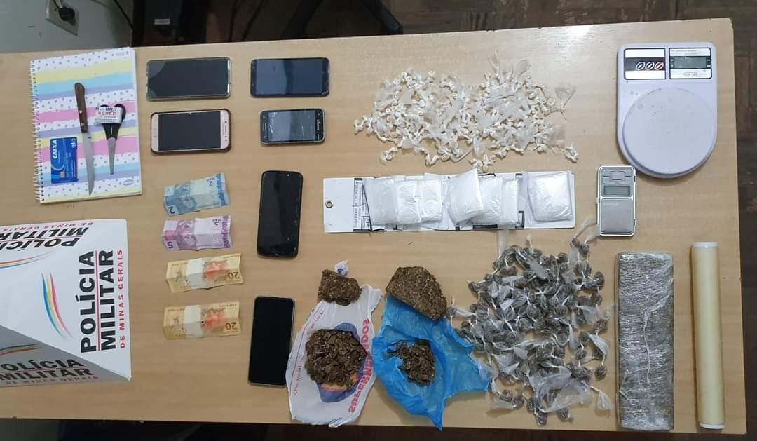 Quatro pessoas são presas por tráfico de drogas em Três Marias