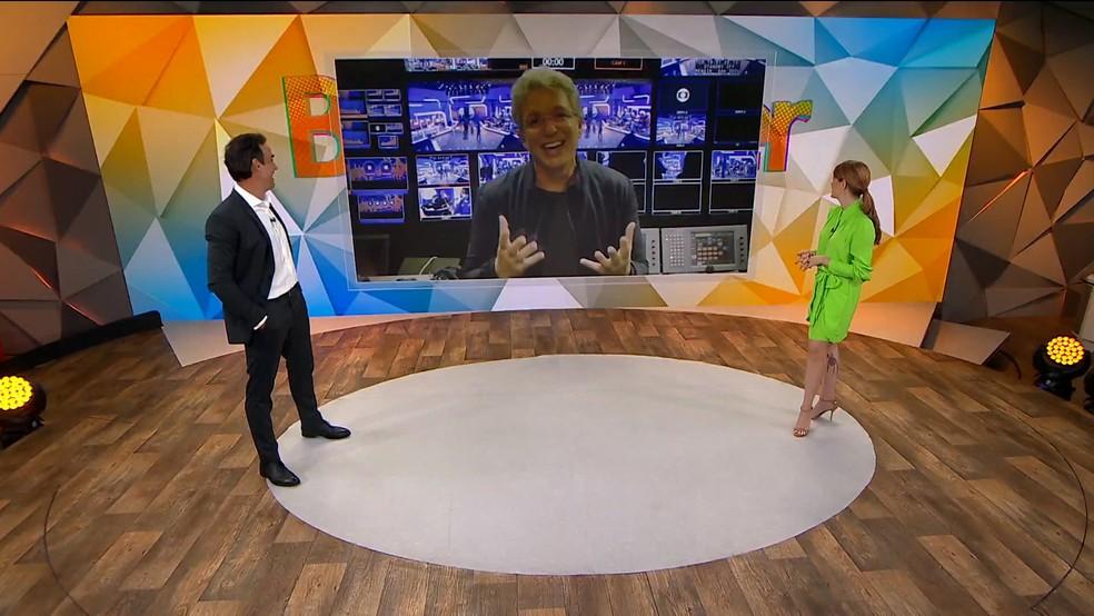 Boninho, diretor de Gênero de Variedades da Globo, contou que Tadeu será o apresentador do BBB 22. — Foto: Reprodução/TV Globo