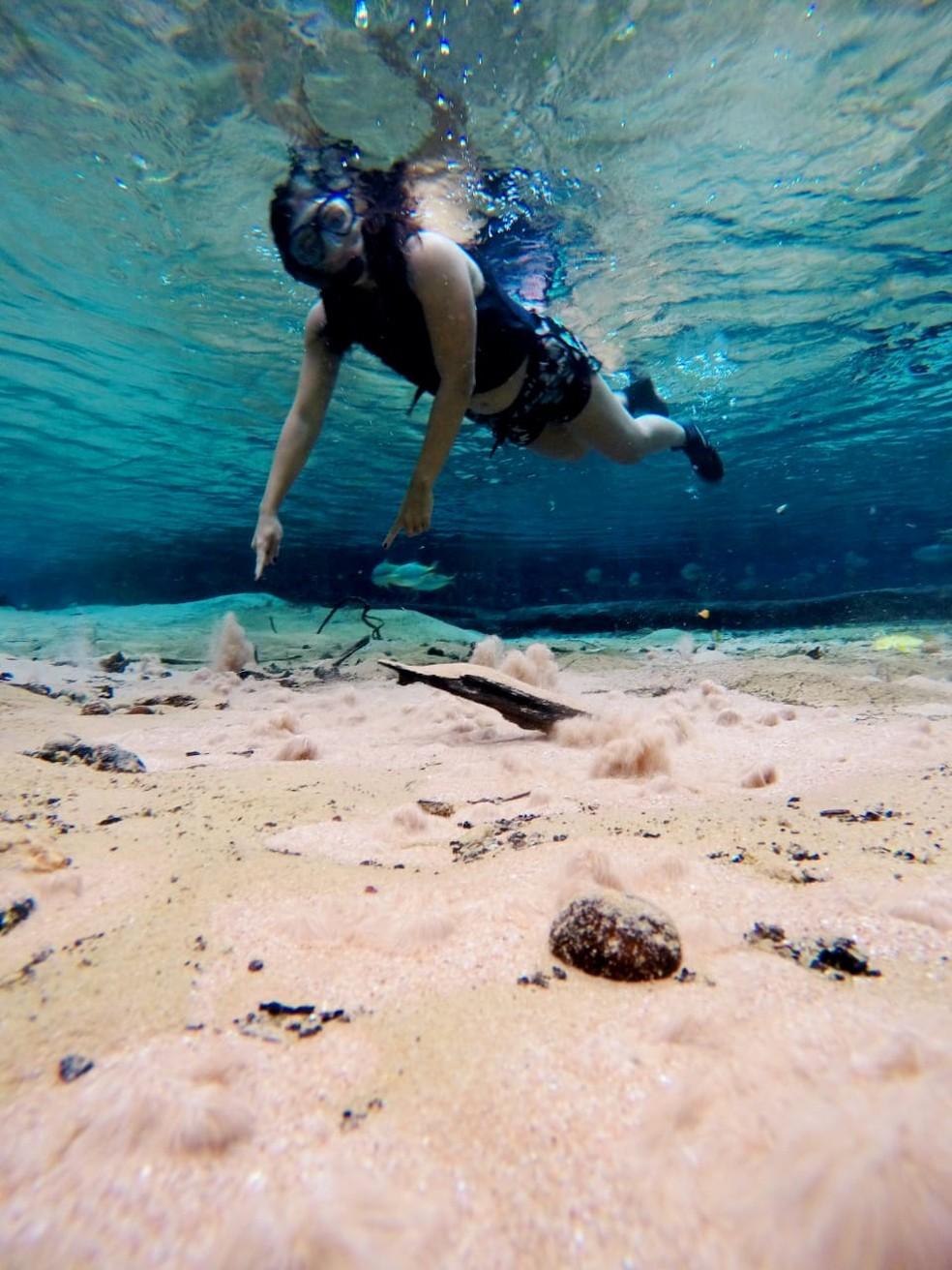 Nobres, em Mato Grosso, é destino de águas cristalinas — Foto: Anaconda Turismo/Divulgação