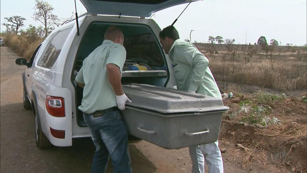 Corpo de Núbia Ribeiro Duarte foi achado em canavial em Patrocínio Paulista — Foto: Reprodução/EPTV