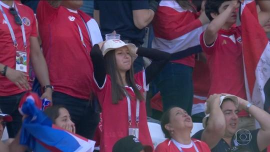 Costa Rica, próxima adversária do Brasil, também não teve boa estreia