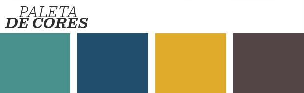 Décor do dia: quarto com cores vibrantes e metálicas (Foto: Reprodução)