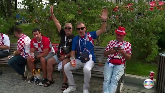 Alex Escobar mostra a chegada tranquila da torcida para a final da Copa do Mundo na Rússia