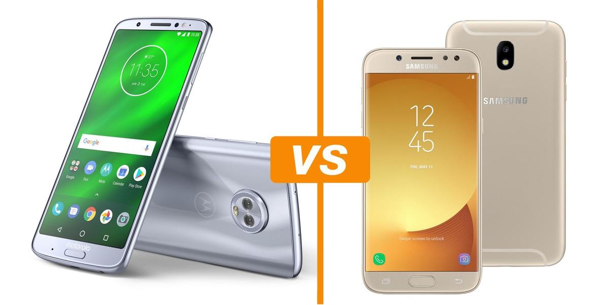 207668969 Comparativo Moto G6 Plus x Galaxy J7 Pro  saiba preço e ficha técnica