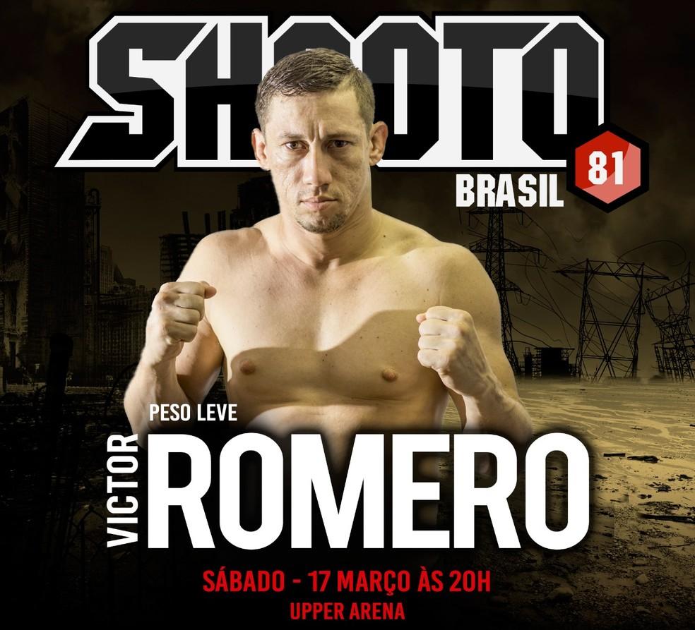 No RJ, Victor Romero enfrenta Salvamar, no 81º Shooto Brasil, neste sábado (Foto: divulgação)