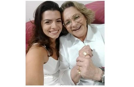 Fernanda e Fafy na festa de Ano Novo  Reprodução/Instagram