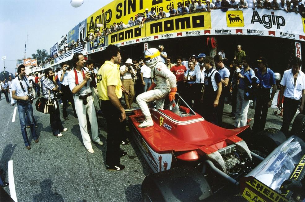 Jody Scheckter nos treinos para o GP da Itália de 1979 — Foto: Getty Images