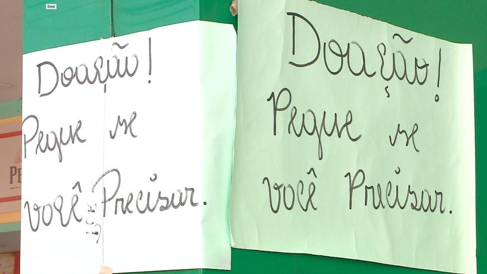 Estabelecimentos põem mesa com alimentos de graça para pessoas necessitadas no Piauí — Foto: TV Clube