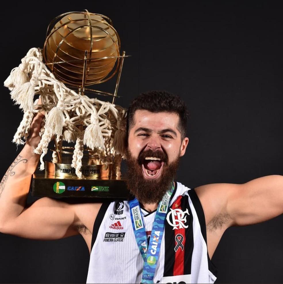 Franco Balbi, campeão do NBB em 2019 pelo Flamengo — Foto: João Pires/LNB