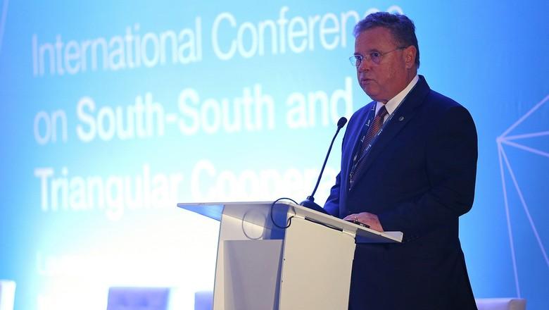 Blairo Maggi palestra no 8º Fórum Mundial da Água (Foto: José Cruz/Agência Brasil)
