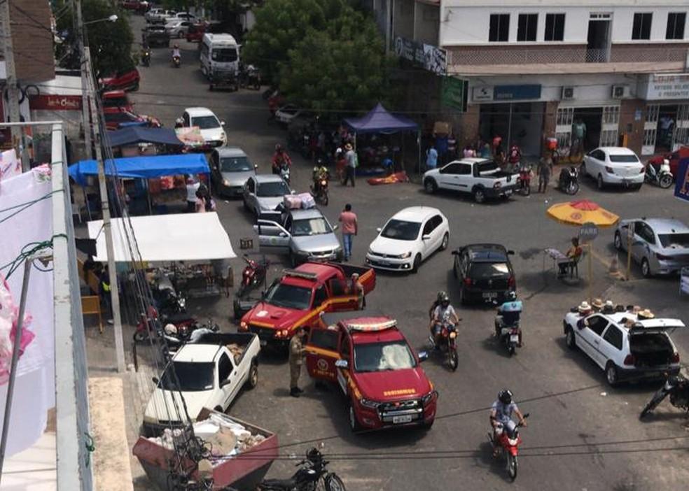 Corpo de Bombeiros de Caicó, no Seridó potiguar, saiu às ruas para mandar população para casa — Foto: Redes Sociais
