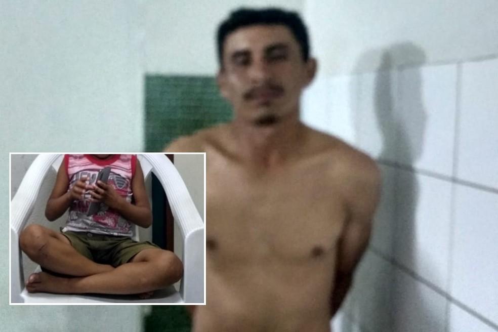 O garoto foi localizado na noite dessa sexta-feira (22), no bairro Capuan, no município da Caucaia. — Foto: Defesa da Mulher de Pacatuba