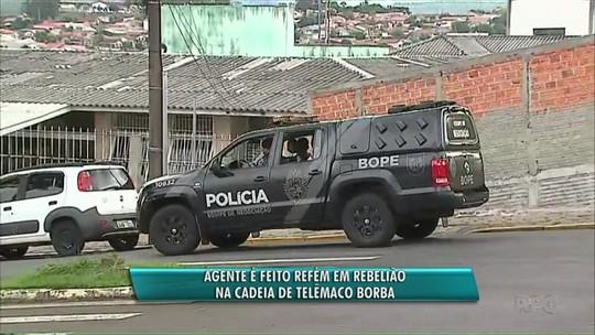 Presos fazem carcereiro refém em rebelião na cadeia de Telêmaco Borba, diz PM