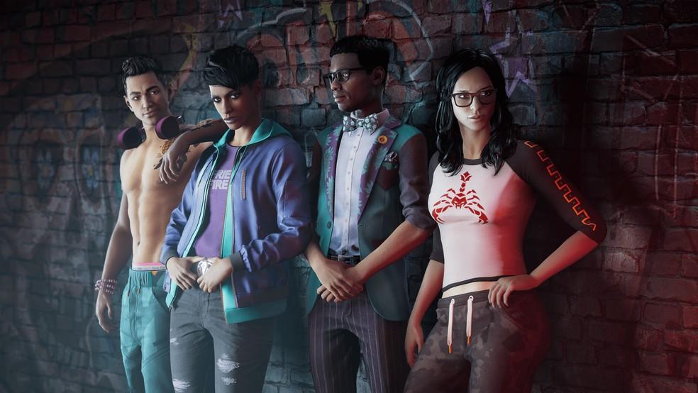 Em Saints Row o jogador assume o papel do The Boss e conta com a ajuda de outros três personagens — Foto: Divulgação/Volition