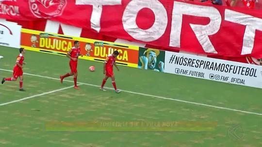 Veja os gols da vitória do Tombense sobre o Villa Nova-MG pelo Campeonato Mineiro