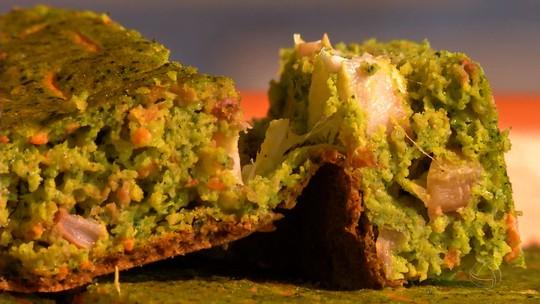 Torta verde de casca de cabotiã: ótima dica pra quem quer comer um lanche diferente