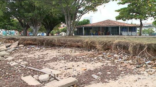 Aumenta a erosão na Praia Grande em São Luís