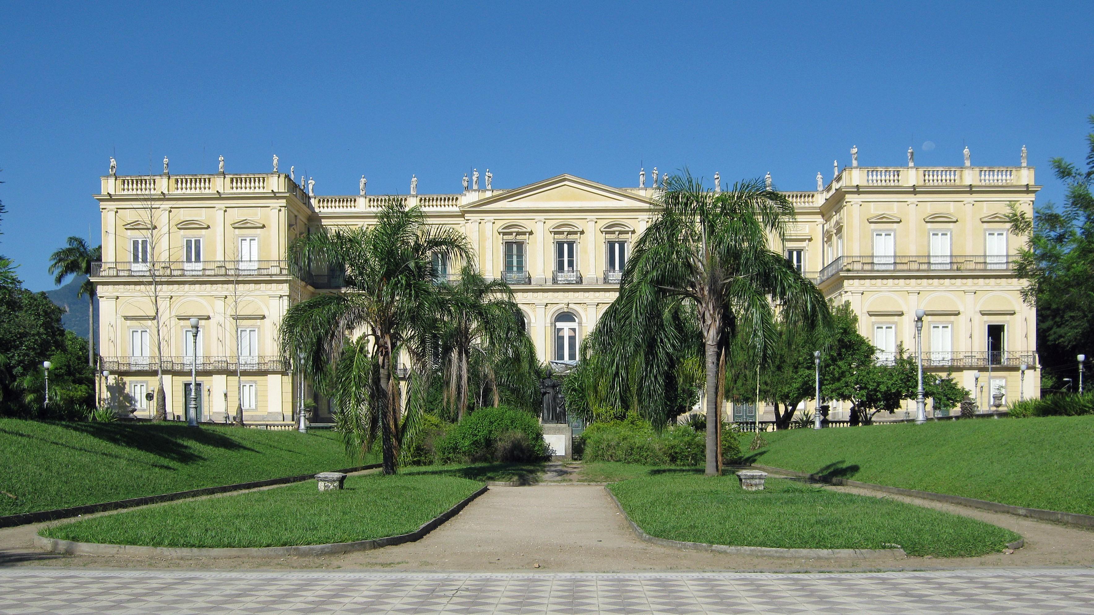 Palácio de São Cristovão antes do incêndio (Foto: Divulgação)