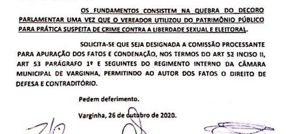 Vereadores pedem instauração de comissão processante que pode cassar Zué do Esporte, suspeito por importunação sexual em Varginha (MG) — Foto: Reprodução