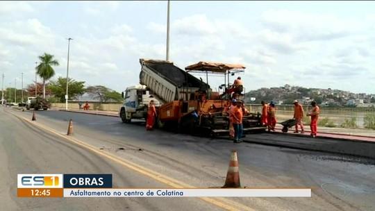 Obras de asfaltamento na avenida Beira-Rio, em Colatina, começam, no Noroeste do ES