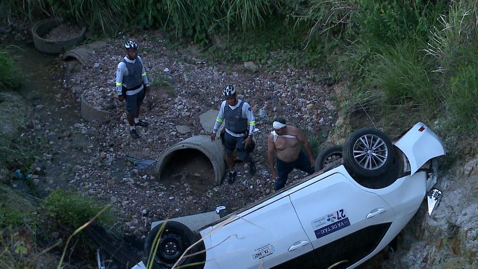 Três homens foram presos na tarde deste domingo (2) suspeitos de roubar um taxista em São Luís. — Foto: Reprodução/ TV Mirante